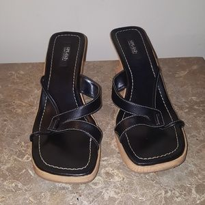Ladies Black Splash sandal size 10